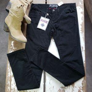 Victoria's Secret PINK Black Corduroy Skinny Pant